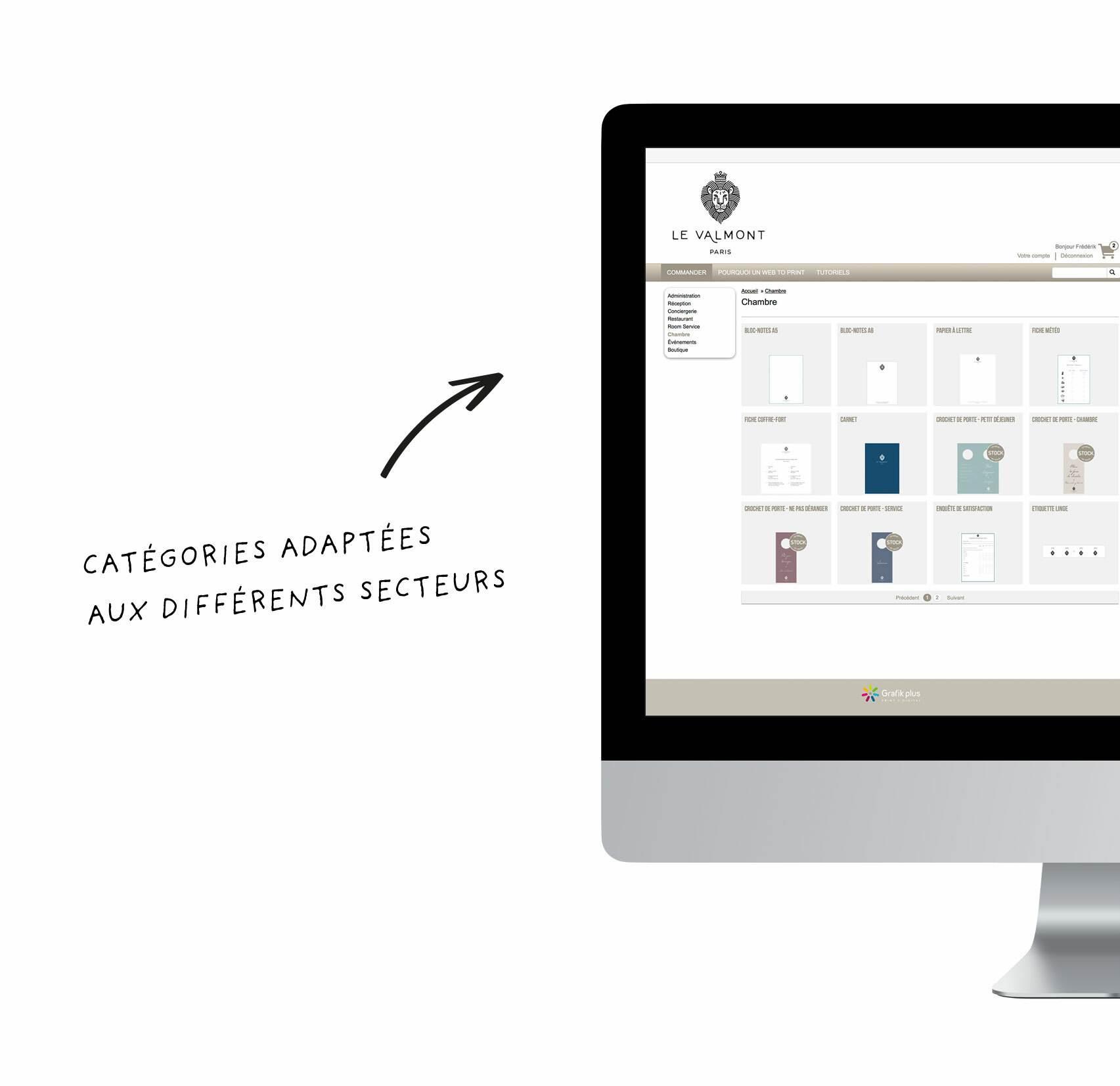 web to print, hotels, plateforme print, commande en ligne