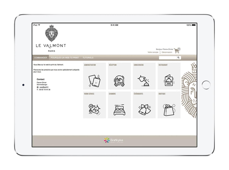 web to print, hotels, plateforme print, commande en ligne, franchises, réseaux