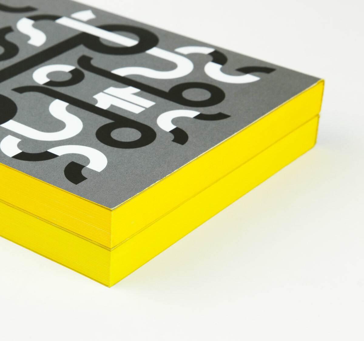 print, catalogue, couleur sur tranche, jaune