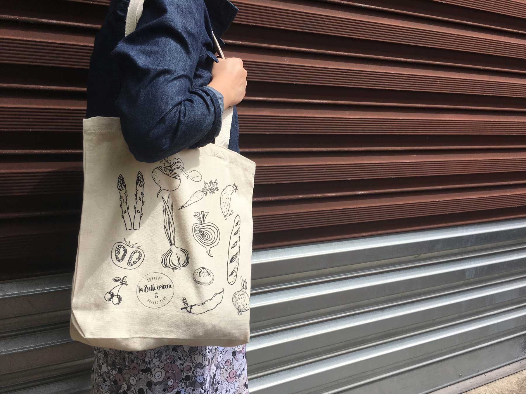 tote bag, coton, personnalisation, showroom